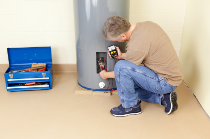 North Port Plumber installing water heater